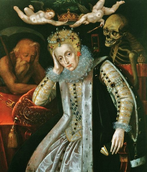 Queen Elizabeth I (1538-1603) in Old Age, c_1610 (oil on panel), English School, (17th century)  Corsham Court, Wiltshire.jpg